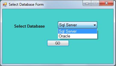 SelectDBForm_Running
